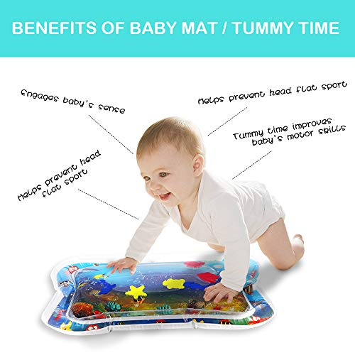 Inflatable Baby Water Mat The Perfect Fun time Play Activity Center Fun Activity Play Center for Children /& Infants